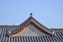 Kafelkowi dachy Koreańska Tradycyjna architektura obraz stock
