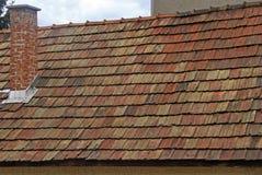 Kafelkowy dach budynek w Eger Zdjęcia Royalty Free