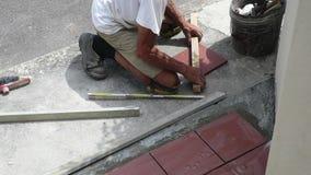Kafelkowy przywrócenie chodniczek kłaść płytki w budynku zbiory