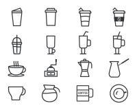 Kaffeöversiktsbeståndsdelar royaltyfri illustrationer