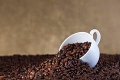 Kaffeüberfluß stockbild