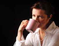 Kaffeüberlegungen Stockfoto