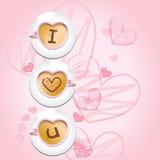 kaffe älskar jag u Royaltyfri Illustrationer