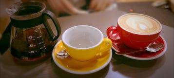Kaffe är en livstil Fotografering för Bildbyråer
