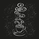 Kaffe är i luftaffischen Royaltyfri Fotografi