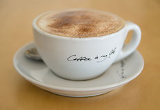 Kaffe är mitt liv Fotografering för Bildbyråer