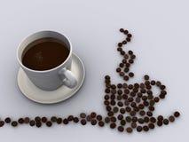 kaffe 2 royaltyfri illustrationer