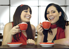 kaffe 3 tillsammans Fotografering för Bildbyråer