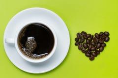 Kaffe av förälskelse Arkivbild