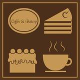 Kaffe- & bagerilogo Royaltyfria Foton