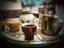 Kaffe bara eller latte? Royaltyfria Foton