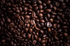 Kaffe Bean Background Royaltyfria Foton
