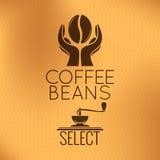 Kaffe Bean Concept Maskinbakgrund, vektor illustrationer