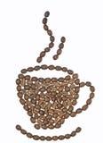Kaffe Bean Cup Royaltyfri Bild