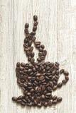 Kaffe Bean Cup fotografering för bildbyråer