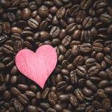 Kaffe Bean Heart royaltyfria bilder