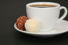 Kaffe & choklad Royaltyfri Bild