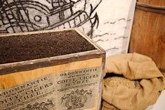 Kaffe-, cicers- och tehandel Royaltyfria Bilder