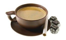 kaffe cigarette7 Arkivfoton