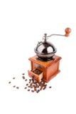 kaffe danade den gammala grinderen royaltyfri bild