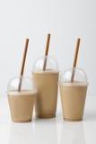 Kaffe dricker modellen med bakgrund Royaltyfria Foton
