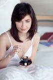 kaffe dricker morgon Fotografering för Bildbyråer