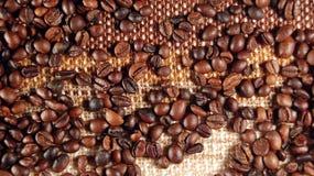 kaffe för 02 bönor arkivbild