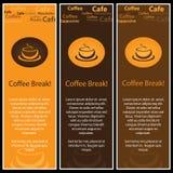 kaffe för 3 baner stock illustrationer