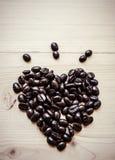 kaffe för böna för ้ av hjärta Arkivfoto