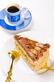 kaffe för cakechampagnehalva Fotografering för Bildbyråer
