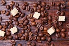 kaffe för closeup för astractbakgrundsbönor Fotografering för Bildbyråer