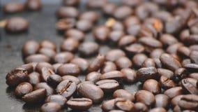 kaffe för closeup för astractbakgrundsbönor Arkivbild