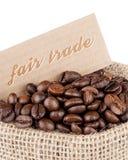 Kaffe för ganska handel Fotografering för Bildbyråer