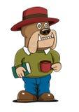 Kaffe för Hipster för hundbokillustration Vektor Illustrationer