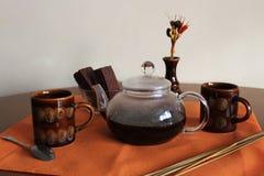 Kaffe för två Royaltyfria Foton