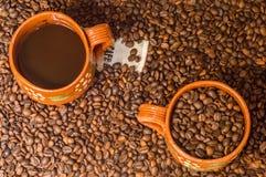 Kaffe från Veracruz, Mexico, kopieringsutrymme arkivbilder