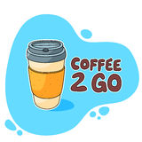 Kaffe 2 går koppen Arkivbilder