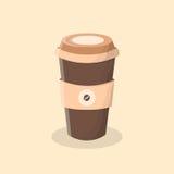 kaffe går till Kupa av kaffe stock illustrationer