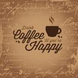 Kaffe gör dig lycklig Royaltyfri Fotografi