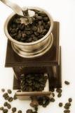 kaffe gammal danad grinder Arkivbilder