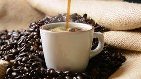 kaffe häller stock video