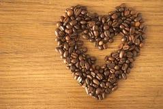 Kaffe heart_2 Arkivfoto