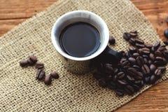 Kaffe i espressokopp Arkivbilder