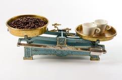 Kaffe i jämvikt Arkivfoto