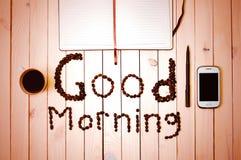 Kaffe i morgonen ready för att fungera Royaltyfria Foton