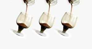 Kaffe i rörelse Arkivfoto