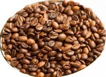 kaffe innehåller det realistiska fotoet för ingreppet för bilden för korn för designelementlutningen Arkivfoton