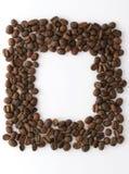 Kaffe inramar fotografering för bildbyråer