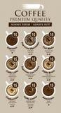 kaffe isolerad menywhite stock illustrationer