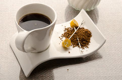 kaffe isolerad set white Royaltyfri Fotografi